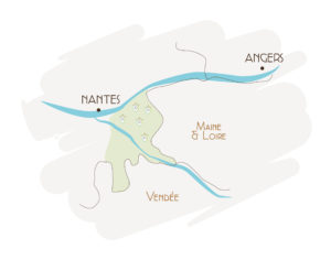 Carte du Vignoble de Nantes